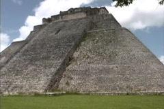 Uxmal pyramid Maya ruin Stock Footage