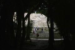 Maya ruins Lamanai Belize Stock Footage