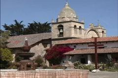 Mission San Carlos CA Stock Footage