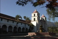 Mission Santa Barbara CA Stock Footage