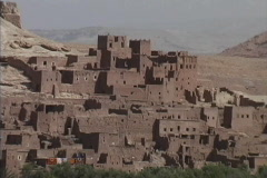 Morocco Ait Benhaddou zooms out Stock Footage