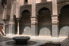Morocco Fez Arabic writing Stock Footage
