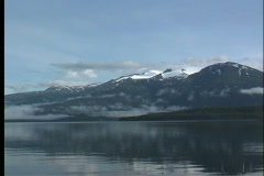 Mountains and sea Alaska - stock footage