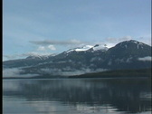 Mountains and sea Alaska Stock Footage