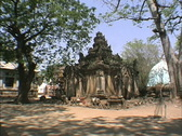 Myanmar Ancient pagoda Mandalay Stock Footage
