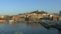 Naples early morning view Stock Footage