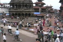 Nepal Bhaktapur royal square Stock Footage