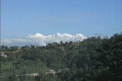 Distant Himalayan peaks Stock Footage