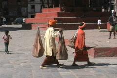 Nepal Kathmandu devotees Stock Footage