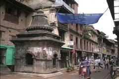 Nepal Shine with motor bike Stock Footage