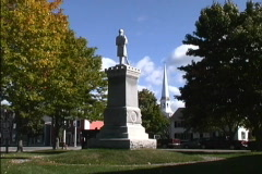 New England village square Stock Footage