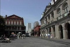 New Orleans Cabildo & downtown Stock Footage