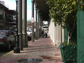 New Orleans Covered arcade Stock Footage