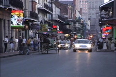 New Orleans Bourbon Street Stock Footage