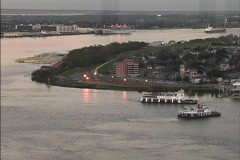 New Orleans Ferries on Mississippi Stock Footage