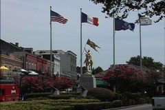 New Orleans Joan of Arc with flags Stock Footage