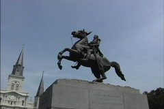 New Orleans Statue Andrew Jackson Stock Footage
