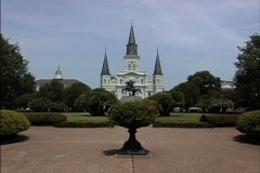 New Orleans Zooms in to Jackson Stock Footage