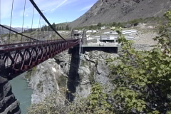 New Zealand Bungee jumping Kawarau Bridge Stock Footage