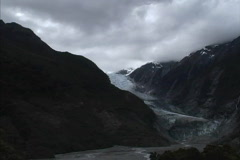 New Zealand Franz Joseph Glacier Stock Footage