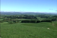 New Zealand North Island landscape Stock Footage