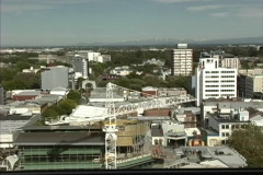 New Zealand View of Christchurch from above Stock Footage