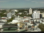 Stock Video Footage of New Zealand View of Christchurch from above