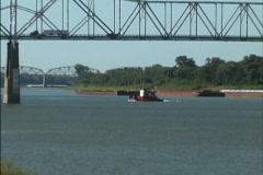 Ohio River bridge - stock footage