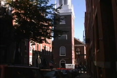 Old North Church Boston MA Stock Footage