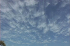 High altitude clouds Stock Footage