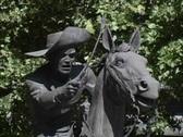 Pony Express rider CA Stock Footage