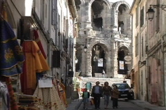 Provence Alley & ampitheater Arles Stock Footage
