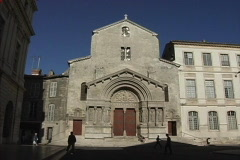 Provence Arles Cathedral Stock Footage