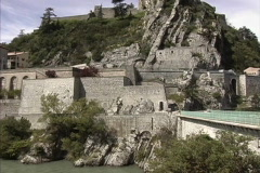 Castle at Sisteron Provence Stock Footage