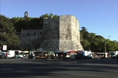 Provence City wall Arles Stock Footage