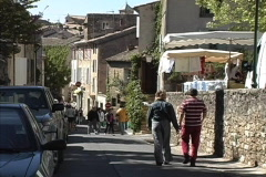 Provence Market day Stock Footage