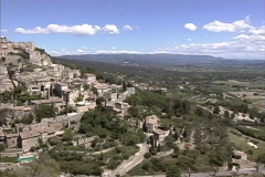 Provence Pans Gordes Stock Footage