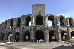Provence Roman ampitheater Arles Stock Footage