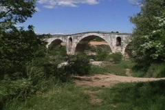 Provence Roman bridge Pont Julien Stock Footage