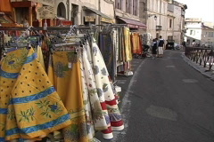 Provence Table clothes Arles Stock Footage