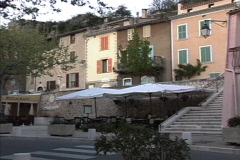 Provence Village of Aiguines Stock Footage