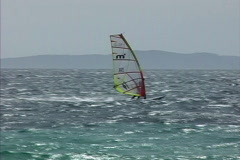 Provence Wind surfer Stock Footage