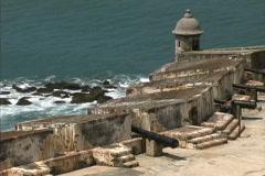 Puerto Rico El Morro gun emplacements Stock Footage