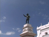 Stock Video Footage of Puerto Rico Ponce de Leon statue