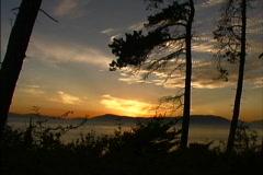 Puget Sound sunset sky Stock Footage