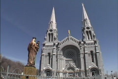 Quebec Basilica Ste Anne Stock Footage