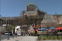 Quebec Chateau Frontenac day Stock Footage