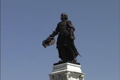 Quebec Closeup Champlain statue Stock Footage