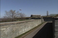 Quebec Fortifications Quebec City Stock Footage