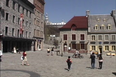 Quebec Place Royal 1 Stock Footage